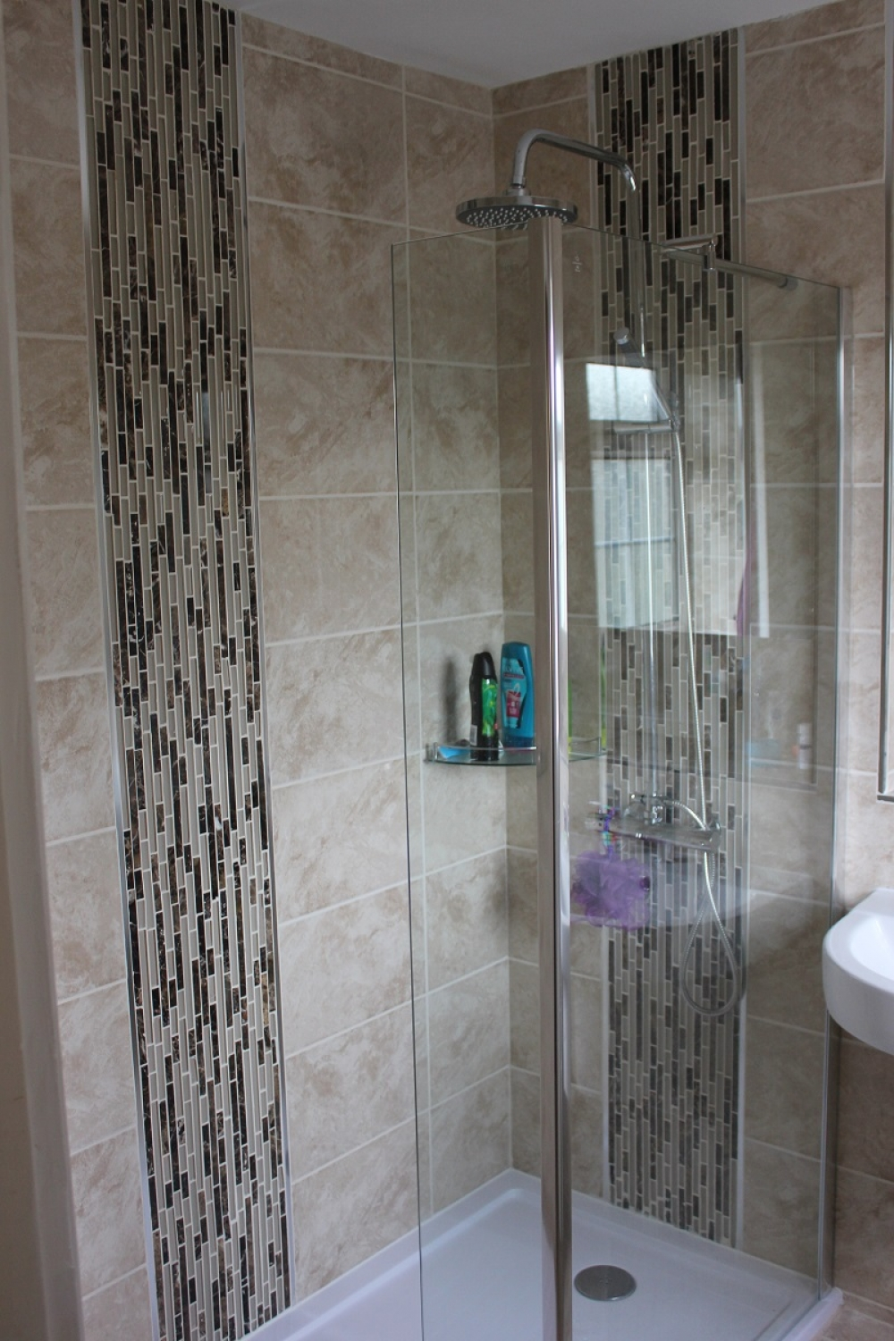 Old salmon en suite to glorious walk in shower room - Bath shower room ...